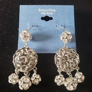 Simply Vera Knotted Chain Sparkle Earrings